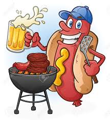 beer cheers cartoon dog cartoon tailgating with beer and bbq cartoon character