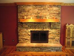 interior interesting fireplace design ideas with brown stone