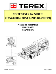 spare parts manual tfc45lx hc sider g7544006 20517 20518 20519
