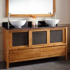 Teak Bathroom Vanity by Teak Vanities Bathroom Vanities Signature Hardware Teak Bathroom
