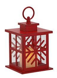 snowflake table top decorations red snowflake lantern led lightup 65 x 5 metal christmas table top