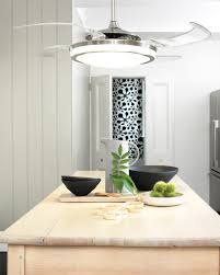kitchen ceiling fan ideas bookshelves cool retractable blade ceiling fan with light design
