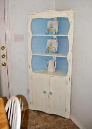 Distressed Corner Cabinet Upcycled Shabby Chic Corner Cabinet Low On Drama Frugal Mama