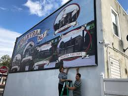 and the mural of the story is borough of palmyra a crew from fast signs of maple shade secures the new mural that was installed monday october 23 2017 to the wall of tony the barber on cinnaminson ave