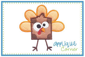 applique corner thanksgiving fall designs