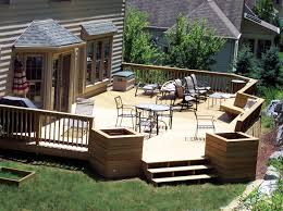 sweet ideas for patio with neat dining table near loveseats on