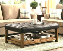 faux leather coffee table ottomans as coffee tables simplysami co