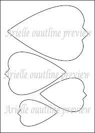 printable large flowers diy giant paper flower printable templates flower template outlines