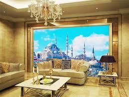living room mural custom 3d photo wallpaper living room mural islamic church scenery