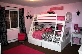bunk beds for girls with desk storage underneath circle creamy rug
