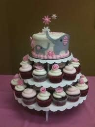 oh baby shower cakes with cupcakes for girls baby itus a