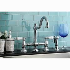 deck mount kitchen faucet kingston brass restoration handle kitchen faucet with