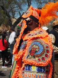 orange mardi gras mardi gras indians on sunday 2016 new orleans la miguel