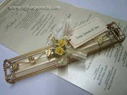 scroll invitations novelty wedding invitation card party favor scroll