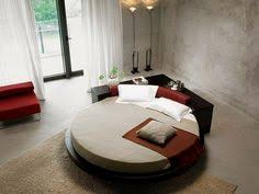 stylish leather modern contemporary bedroom designs with round bed