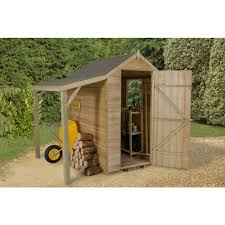 Shiplap Sheds 6 X 4 Forest Garden Overlap Garden Shed With Lean To 6 X 4 At Wilko Com