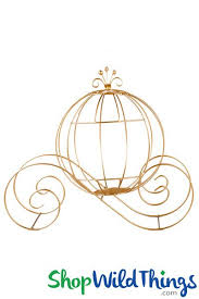 Cinderella Wire Carriage Centerpieces by Cinderella Carriage Decoration Large Gold Wire Centerpiece