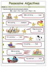 possessive adjectives worksheet free esl printable worksheets