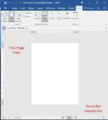 layout view zoom zoom not working in word 2016 print layout view the bentley blog