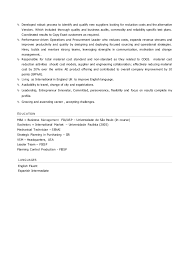 Supply Chain Manager Sample Resume by Supply Chain Manager Resume In English Flavio Nanni Jully 15