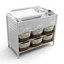 Badger Basket Baby Changing Table With Six Baskets Brilliant Baby Changing Table Throughout Badger Basket