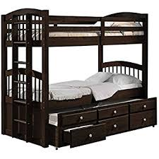 Bunk Beds For Three Amazon Com American Furniture Classics Twin Over Bunk Bed With 3