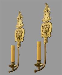 Gold Wall Sconces Bronze Gold Wall Sconces C1920