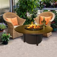 Glass Fire Pits by American Fire Products Carmel Fire Pit 42 Inch Copper Top Fire