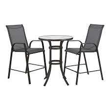 Bunnings Bar Table Marquee 3 Steel Sling Bar Setting Outdoor Furniture