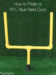football party decorations diy field goal post