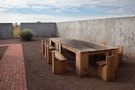 Donald Judd Chair Donald Judd U0027s Outdoor Dining Tables Kitchn
