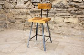 the brewster u2013 industrial style bar stools with reclaimed wood