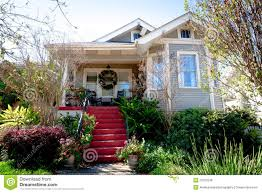 small cottage home and garden royalty free stock image image