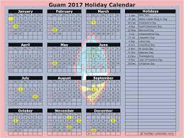 guam 2017 2018 calendar
