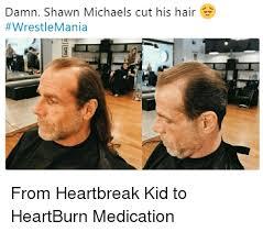 Heartburn Meme - damn shawn michaels cut his hair from heartbreak kid to heartburn