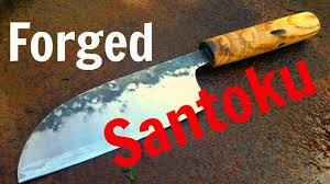 making a santoku kitchen knife forged from a leaf spring youtube