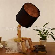 Wooden Table Lamp Europe Wooden Table Lamp E27 Beige Fabric Lamp Shade Table Lamp