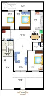 35 x 70 west facing home plan floor plans pinterest house