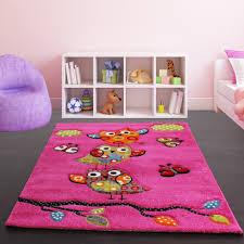 Buy Kids Rug by Kids Carpet Cute Owls Modern Children Rug In Green Cream Red Blue