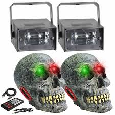halloween glowing led skull speaker u0026 strobe duo package idjnow