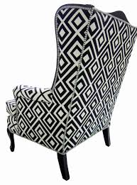 Zebra Dining Chair Covers Zebra Print Wing Chair Slipcover Animal Print Dining Room Chair
