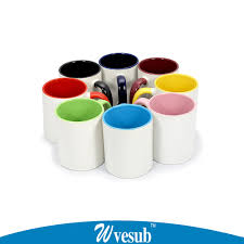 gift mugs with candy 36pc sublimation mugs white coated ceramic cup 11oz candy color