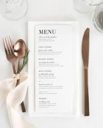 Urban Table Menu Wedding Menus Shine Wedding Invitations Luxury Wedding