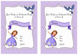 make your own party invitation sofia the first party invitations reduxsquad com