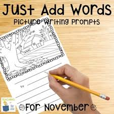 picture writing prompts for november writing center