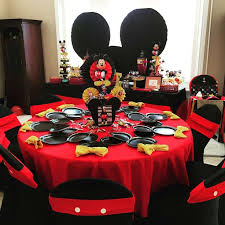 mickey mouse birthday party mickey mouse birthday table decoration ideas image inspiration