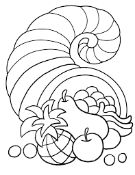 coloring pages thanksgiving feast coloring pages mycoloring free