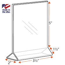 table tent sign holders open top frames table tent signs holder counter top frames