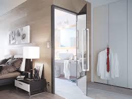 schlafzimmer mit bad glas drehtür nach maß fürs schlafzimmer glaserei hyna in aichach