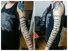 mass effect jack arm tattoo test by celtinna on deviantart